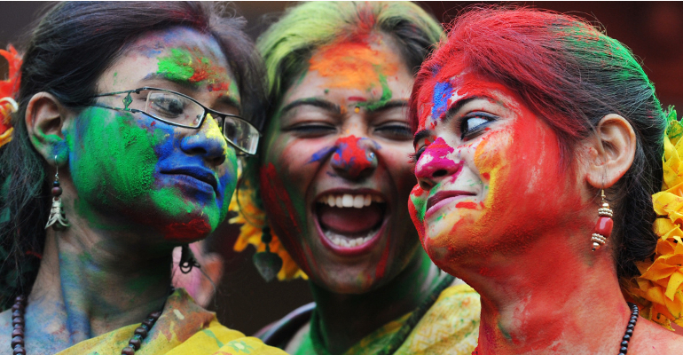color festival tribal