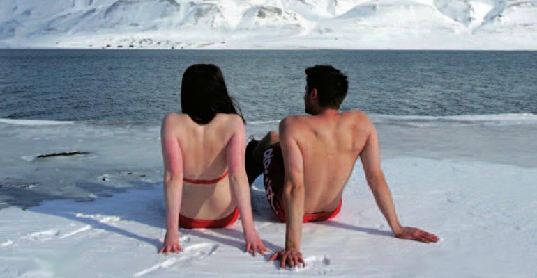 ghiaccio bagnanti artico
