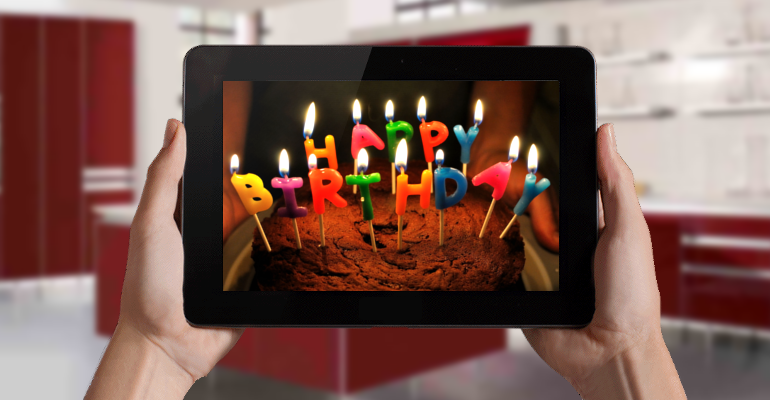 happy birthday web tablet